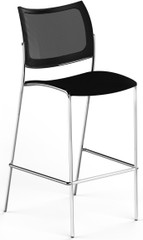 Mayline Escalate Mesh / Plastic Stacking Stool Set of 2 [EMS2MB]-1