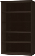 Mayline Medina Bookcase 5 Shelf Mocha Laminate [MVB5LDC]-1
