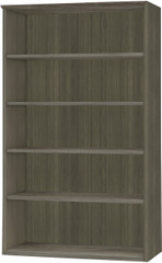 Mayline Medina Bookcase 5 Shelf Gray Steel Laminate [MVB5LGS]-1