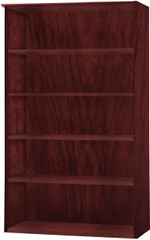 Mayline Medina Bookcase 5 Shelf Mahogany Laminate [MVB5LMH]-1