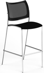 Mayline Escalate Mesh / Fabric Stacking Stool Set of 2 [EMS25MBLK]-1