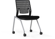 Mayline Thesis Training Chair Armless, Flex Back [KTX2SBBLK]-1