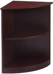 "Mayline Corsica Bookcase 2 Shelf 1/4"" Round Mahogany [VBQ2MAH]-1"