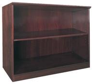 Mayline Corsica Bookcase 2 Shelf Mahogany [VB2MAH]-1