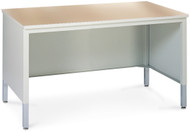 "Mayline Mailroom Furniture Work Table 48""W Pebble Gray [TB48PG]-1"