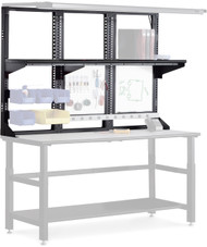 "Mayline Techworks 60""x48"" Upper Desk Frame Black [7103DV5]-1"