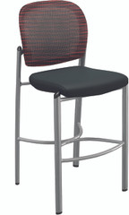 Mayline Valore Black / Burgundy Stool [TSS2BR]-1