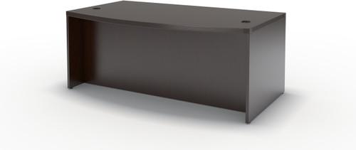 "Mayline Aberdeen 72"" Bow Front Desk Mocha [ABD7242LDC]-1"