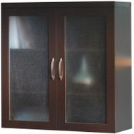 Mayline Aberdeen Glass Display Cabinet Mocha [AGDCLDC]-1