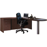 Mayline Aberdeen Office Desk Set Mocha [AT11LDC]-1