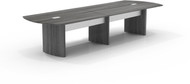 Mayline Medina 12' Conference Table Gray Steel Laminate [MNC12LGS]-1