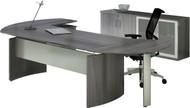 Mayline Medina Office Desk Set Gray Steel [MNT7LGS]-1