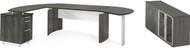 Mayline Medina Office Desk Set Gray Steel [MNT8LGS]-1