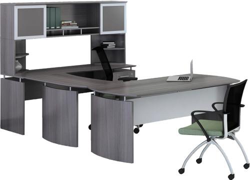 Mayline Medina Office Desk Set Gray Steel [MNT36LGS]-1