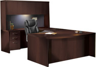 Mayline Aberdeen Office Desk Set Mocha [AT4LDC]-1
