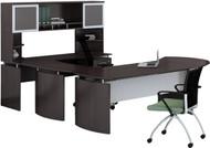Mayline Medina Office Desk Set Mocha [MNT31LDC]-1