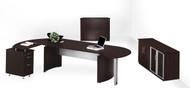 Mayline Medina Office Desk Set Mocha [MNT16LDC]-1