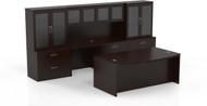 Mayline Aberdeen Office Desk Set Mocha [AT7LDC]-1