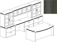 Mayline Aberdeen Office Desk Set Gray Steel [AT7LGS]-1