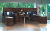 Mayline Aberdeen Office Desk Set Mocha [AT18LDC]-1