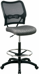 Air Grid Mesh Drafting Chair with Fabric Seat [13-7N20D] -1
