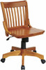 Armless Wood Bankers Desk Chair [101ANW] -2