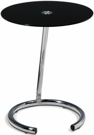 Ave. Six Yield Collection Glass Top Accent Table [YLD04] -1