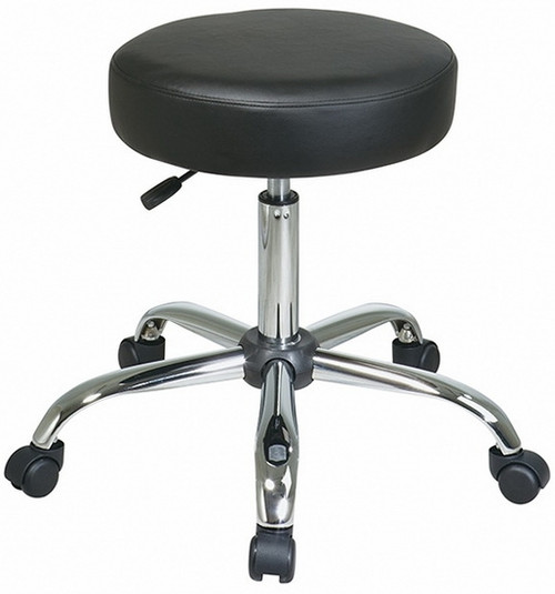 Vinyl Exam Stool with Chrome Finish [ST428V] -1