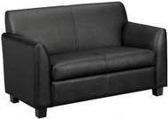 Basyx Black Leather Love Seat [VL872] -1