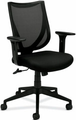 Basyx Mid Back Black Mesh Office Chair [VL561] -1