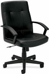 Basyx Mid Back Leather Managers Chair [VL602-L] -1