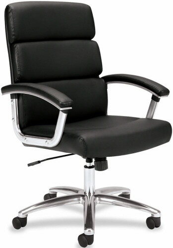 Basyx Mid Back Polished Frame Office Executive Chair [VL103] -1