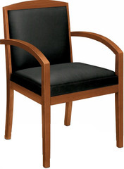 Basyx Wooden Frame Leather Guest Chair [VL853] -1