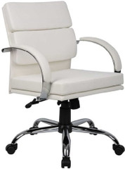 Boss Aaria Modern White Office Chair [B9406] -1