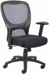 Boss Black Mesh Task Chair [B6508] -1