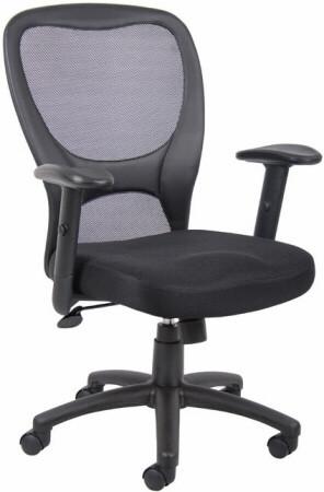 Boss Black Mesh Task Chair [B6508] -1