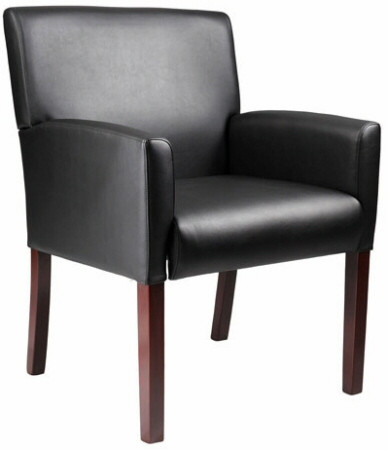 Boss Box Arm Vinyl Reception Chair [B629] -1
