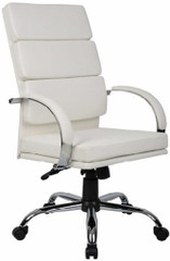 Boss High Back White CaressoftPlus™ Executive Chair [B9401] -1