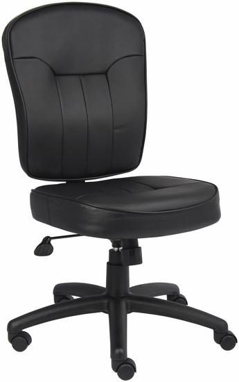 Boss LeatherPlus Armless Office Chair [B1560] -1