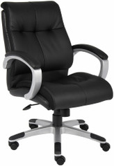 Boss LeatherPlus Mid Back Chair [B8776] -1
