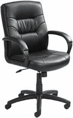 Leather Mid Back Office Chair [B7506] -1
