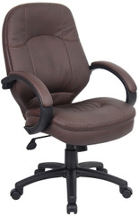 Boss Plush LeatherPlus Conference Chair [B726-BB] -Front