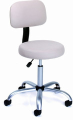 Boss Vinyl Medical Stool with Back [B245] -1