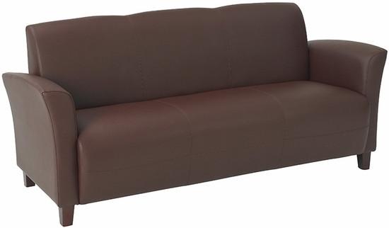 Leather Sofas - Contemporary Flared Arm Eco Leather Sofa [SL2273]