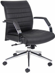 Contemporary Mid Back Ribbed Office Chair [B9446] -1