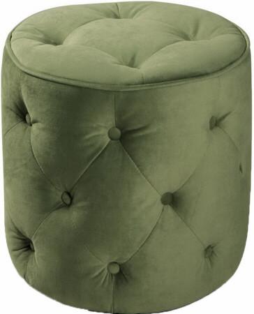 Curves Tufted Round Ottoman [CVS905] -1
