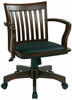 Office Star Deluxe Wood Bankers Desk Chair [108FW] -4