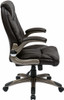 Faux Leather Mid Back Manager Chair [FLH24981] -2