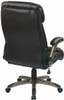 Flip Arm Eco-Leather Executive Chair [ECH38615A] -4