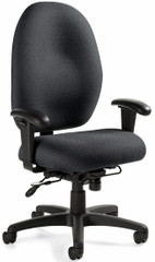 Global Stamina+ Big and Tall Chair with Memory Foam [2440] -1